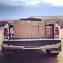 Another shipment of wine glasses arriving in Grand Junction, Colorado