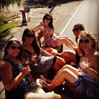 This bachelorette party was the very first group to introduce our signature wine glasses! Summer of 2012 in Palisade, CO.