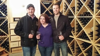 Barrel tasting at Canyon Wind Cellars with Joseph R. Burtard, Tiffany White and Ryan White